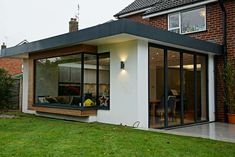 A Modern extension in Hagley, Birmingham built by master builders Kiwi Design and Build. Stunning and contemporary design for every member of the family to enjoy. Read more. House Extension Plans, House Extension Design, Glass Extension, Extension Designs, Roof Extension, Garden Room Extensions, House Extensions, Flat Roof Lights, Kitchen Diner Extension