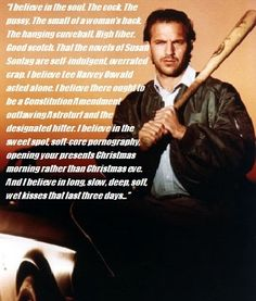 Quotes From Bull Durham Great Baseball. QuotesGram