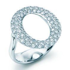 Tiffany & Co.Elsa Peretti Sevillana Ring Of Diamonds In Platinum.
