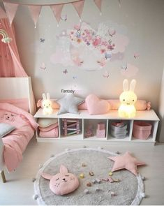Craft Pom Pom Fuzzy Creeping Non-Slit Carpet – TYChome Newborn,Baby,Hammock for,Crib Wombs Bassinet Pink Bedroom For Girls, Baby Bedroom, Little Girl Rooms, Baby Room Decor, Nursery Room, Bedroom Decor, Ikea Girls Bedroom, Girl Nursery, Baby Girl Bedroom Ideas