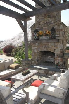 Traditional Patio with Trellis, Pathway, exterior tile floors, outdoor pizza oven