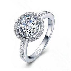 Stunning Romantic Crystal Silver 925 Ring
