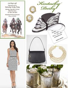 A Kentucky Derby party theme is a sure bet winner! | Derby Day Style on the @FineStationery Blog