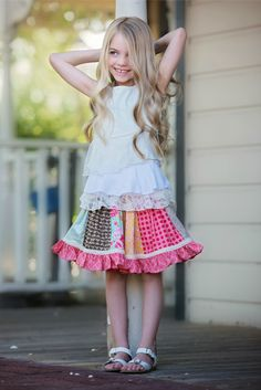 Online kids boutique that curates boys + girls boutique clothing, tween clothing + trendy baby clothes. Embrace the wonder of childhood at Little Skye Little Girl Fashion, Kids Fashion, Persnickety Clothing, Kids Clothing Brands, Trendy Baby Clothes, Children's Boutique, Dresses With Leggings, Spring Summer Fashion, Pocket