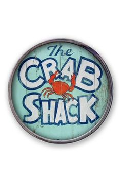 Crab Shack Barrel End Sign