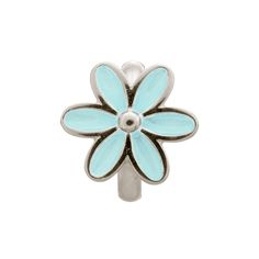 Hoff Jewelers :: Silver Charm with Light Blue Enamel