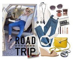 """""""Road Trip Style"""" by mia-christine ❤ liked on Polyvore featuring Hollister Co., Surface To Air, House Doctor, Chloé, Charlotte Tilbury, Chanel, Lanvin, Napier and roadtrip"""