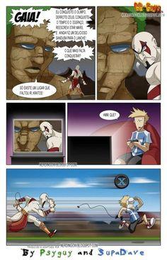 God of War: Kratos pede mais desafios para Gaia [tirinha]  NERDingOW - O BLOG SUPER NERD!