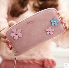 New 2015 women wallet vintage pu leather brand woman flower wallet ladies retro purse wristlets billeteras mujer porte feuille
