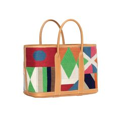 Hermes-SS-2012-Garden-Party-Craft-Bag-in-Embroidered-H-Canvas-and-Natural-Cowhide