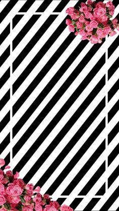 Tumblr Backgrounds, Cute Wallpaper Backgrounds, Mobile Wallpaper, Cute Wallpapers, Iphone Wallpaper Glitter, Black Wallpaper, Flower Wallpaper, Cute Patterns Wallpaper, Floral Prints