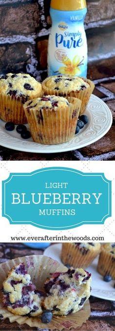 The Perfect Light Vanilla Blueberry Muffin http://everafterinthewoods.com/2016/03/17/perfect-light-vanilla-blueberry-muffin/ #IDSimplyPure #cbias #ad