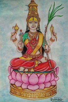 Shiva Art, Krishna Art, Hindu Art, Pichwai Paintings, Indian Art Paintings, Goddess Art, Durga Goddess, Indian Traditional Paintings, Drawings Pinterest
