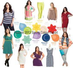 """Pantone 2013 Spring Colour Report"" by plussizefashion on Polyvore"