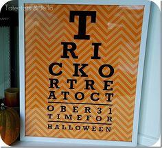 Halloween Eye Chart Pillow & Printable!! {plus file sizes to print it BIG!} -- Tatertots and Jello