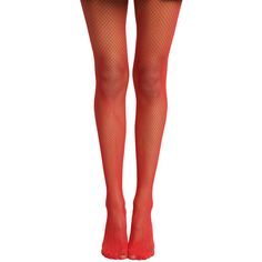 Hot Topic Blackheart Red Fishnet Tights ($7.92) ❤ liked on Polyvore featuring red, fishnet stockings, fishnet hosiery, fishnet tights, red hosiery and fishnet pantyhose