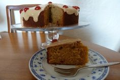 Cherry and Almond Cake with a Golden Icing topping... This recipe is ...