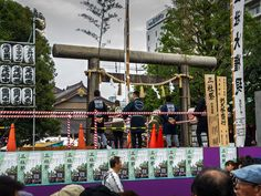 Asakusa Sanja Matsuri 3/10 In Asakusa Jinja, the members of the Shinmon Gumi crew are observing the proceedings: the various chonaikai (neighborhood associations) omikoshi are going from the shrine to Sensoji and then return to their areas. #Asakusa, #Sanja, #Matsuri, #Omikoshi, #chonaikai, #Shinmon, #Jinja May 16, 2015 © Grigoris A. Miliaresis https://flic.kr/p/tDCwR8 | P5160026 | © 2015, Grigoris A. Miliaresis