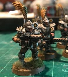 """DKOK by Kicker Kalozdi """"Very happy with the first of my DKoK using all sorts of bits. One trooper takes at least three separate kits to make. First up are a squad of DKoK Combat Engineers and DKoK Grenadiers (all have a 4+ save so needed to use that Scion armor)."""""""