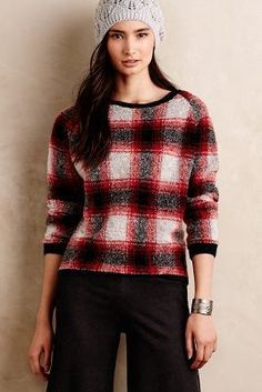 Maison Scotch Oversby Plaid Pullover