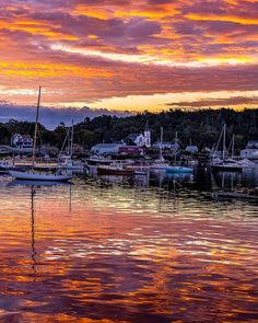 "Ryan Zipp | New Englander on Instagram: """"Fire Over Boothbay Harbor"" Last weekend I headed back up to Mid-Coast Maine on a sort of last minute adventure to see what I could…"""