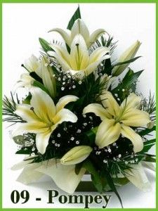 This Oriental Lily arrangement is gorgeous but be careful! It has a very intense fragrance. Before picking this floral, make sure to test for any sensitivity before purchasing. Large Flower Arrangements, Flower Arrangement Designs, Funeral Flower Arrangements, Flower Centerpieces, Flower Decorations, Altar Flowers, Church Flowers, Funeral Flowers, Deco Floral