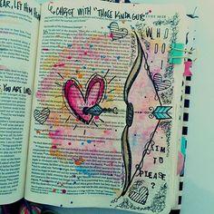 Bible Art Journaling by Kristen Wolbach @kristenwolbach | Luke 16:15