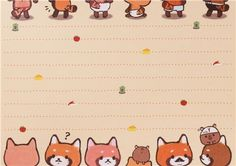 cute animal memo pad from Japan with little pandas and colorful paper sheets