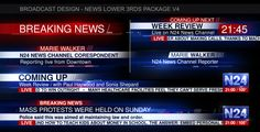 Broadcast Design - News Lower 3rds Package V4