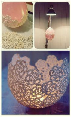 How to make Doily luminaries! Crafts Round Up of 15 fabulous crafts to make with vintage doilies How to make Doily luminaries! Crafts Round Up of 15 fabulous crafts to make with vintage doilies Fun Diy Crafts, Adult Crafts, Crafts To Sell, Arts And Crafts For Adults, Craft Ideas For Adults, Kids Crafts, Handmade Crafts, Cool Crafts For Kids, Creative Crafts
