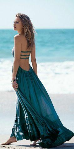Robe longue d'été robes longues d'été chique casuel