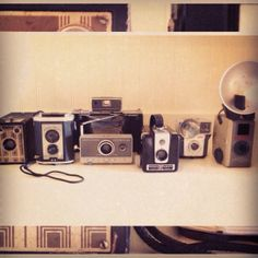 The beginnings of my vintage camera collection ... So excited!