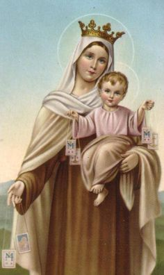 """Today is the Feast of Our Lady of Mt. Carmel. On July 16, 1251, the Blessed Virgin Mary appeared to St. Simon Stock, a Carmelite. During the vision, she revealed to him the Scapular of Our Lady of Mount Carmel, popularly known as the """"Brown Scapular."""""""