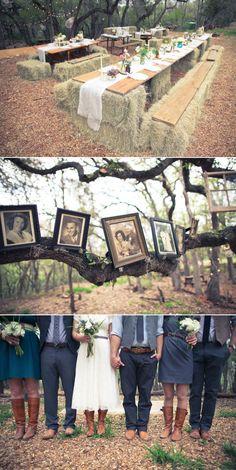 DIY Woodsy Wonderland Wedding by Laurel White Design – Style Me Pretty