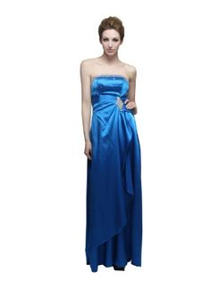 Artwedding Strapless Ruched Side Draping Floor Length Elastic Satin Sheath Prom Bridesmaid Dress , Blue(as picture), 12 Artwedding http://www.amazon.com/dp/B007POAJ82/ref=cm_sw_r_pi_dp_25waub0ZB2999
