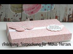 Anleitung: Verpackung für Milka Herzen   Stampin' Up! - YouTube