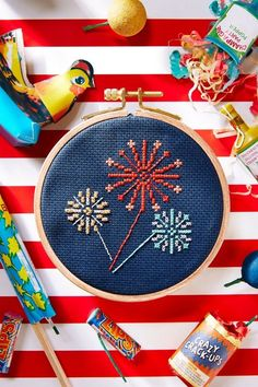 Country Living has created this fun and free firework cross stitch pattern for you to make! Download the chart here. For even more cross stitch goodness make sure you head to our free cross stitch patterns.