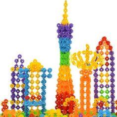 300 PCS Kids Baby Snowflake Creative Building Blocks Educational Toys