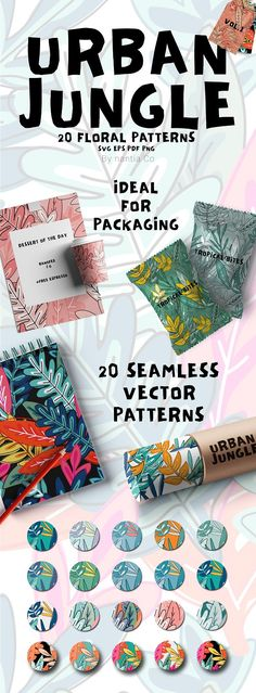 20 Urban Jungle Pattern Vol.1 by nantia on @creativemarket