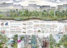 ITSUKI MATSUMOTO / PORTFOLIO | 第7回E&G DESIGN 学生デザイン大賞 アイデア賞 Architecture Presentation Board, Creative Architecture, Architecture Panel, Concept Architecture, Presentation Design, Landscape Architecture, Landscape Design, Architecture Design, Landscape Plane