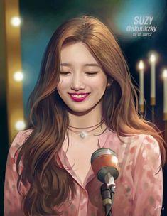Dedicated fan shares beautiful drawings of Suzy Hiba Tan, Miss A Suzy, Korean Painting, Korean People, Bae Suzy, Beautiful Drawings, Korean Celebrities, Anime Art Girl, Dragons