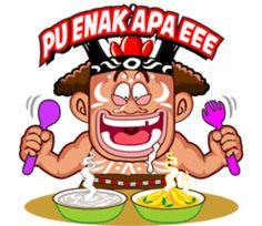 Pace and Mace Papua by Arif Hakim-Arnes-Indra (Branch Jayapura) sticker Indonesian Language, Line Store, Funny Stickers, Line Sticker, Emoticon, Animated Gif, Bowser, Animation, Meme