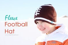 make your own fleece football hat
