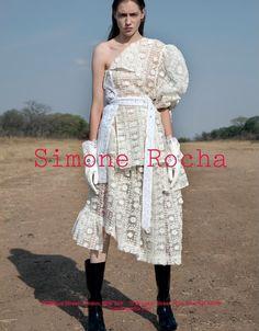 Odette Pavlova by Jackie Nickerson for Simone Rocha SS 2017 Campaign