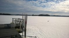 hiihtämään pääset omasta rannasta   #Punkaharju #Suomi #Finland #talo #house #forsale #talomyytävänä #järvi #lake #winter