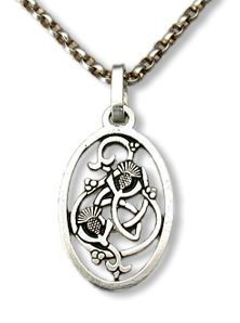The Author's Attic - A Novel Approach to Jewelry Celtic Thistle Pendant inspired by Outlander series