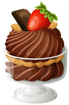 "Photo from album ""Торты, пирожное"" on Yandex. Dessert Names, Dessert Drinks, Food Clipart, Clip Art Pictures, Ice Cream Party, Chocolate Ice Cream, Food Drawing, Food Illustrations, Cute Food"