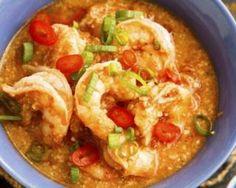 Crevettes thaïes au gingembre, piment et lait de coco