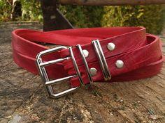 Ledergürtel Red Luxe  http://de.dawanda.com/product/41113710-Lederguertel-Red-Luxe#