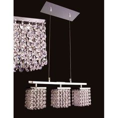 Classic Lighting Bedazzle 3 Light Crystal chandelier Crystal Type: Swarovski Elements Violet and Clear